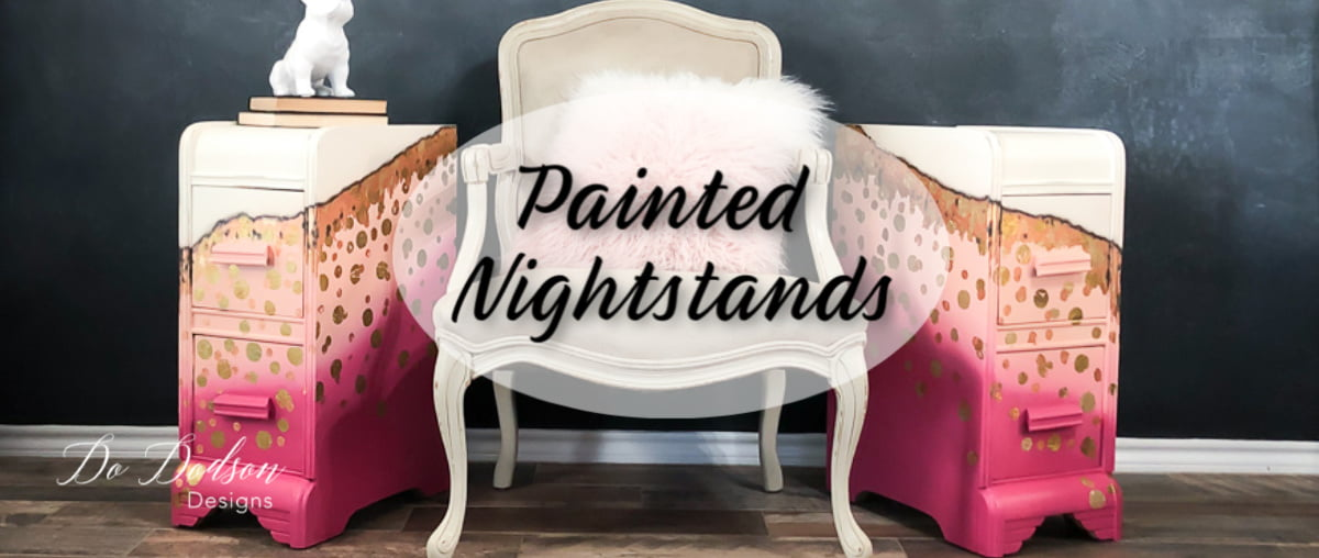 Painted Nightstands With A Bit Of Whimsical Attitude