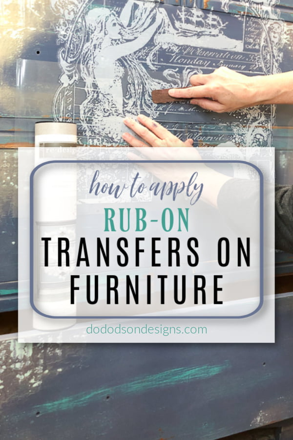 How To Apply Rub-On Transfers On Furniture