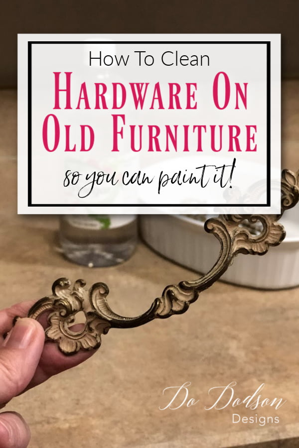 How To Quickly Clean & Spray Paint Hardware For Furniture