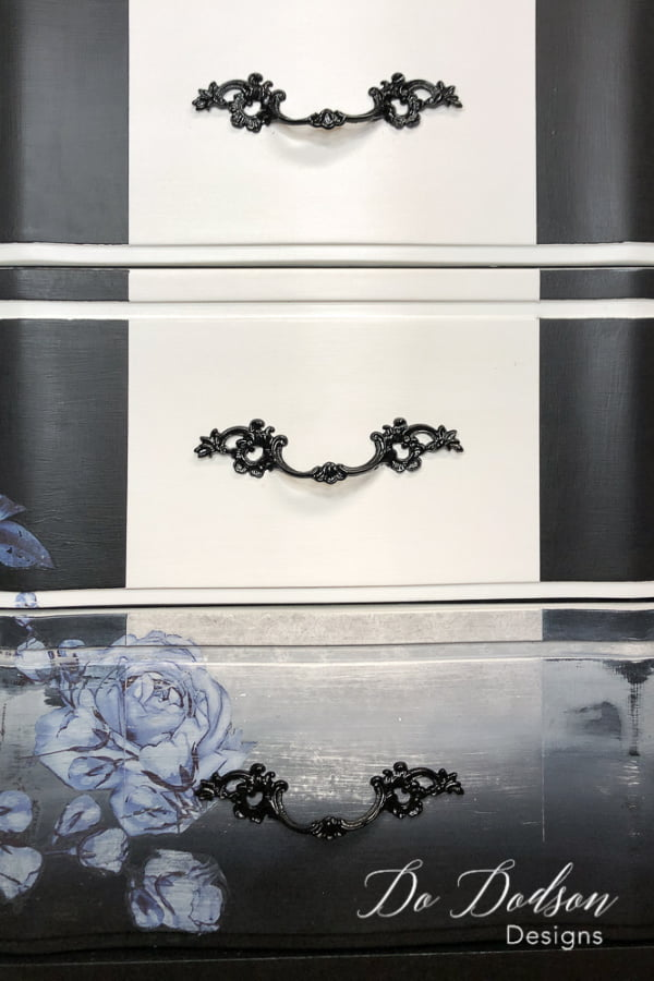 Painting furniture hardware can make a dramatic statement on your furniture makeovers.