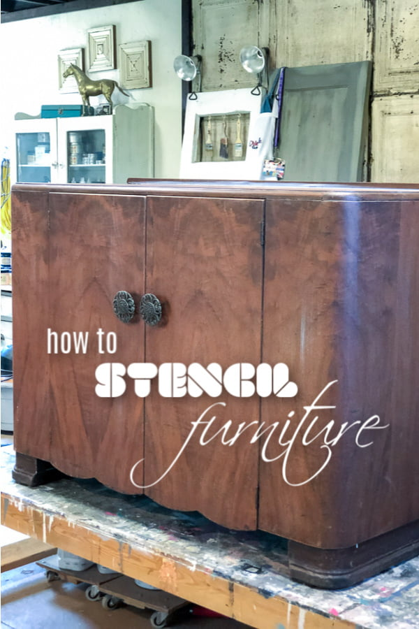 How to stencil furniture in two easy steps.