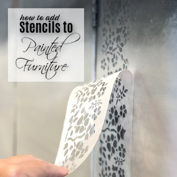 How To Stencil Furniture In Two Easy Steps