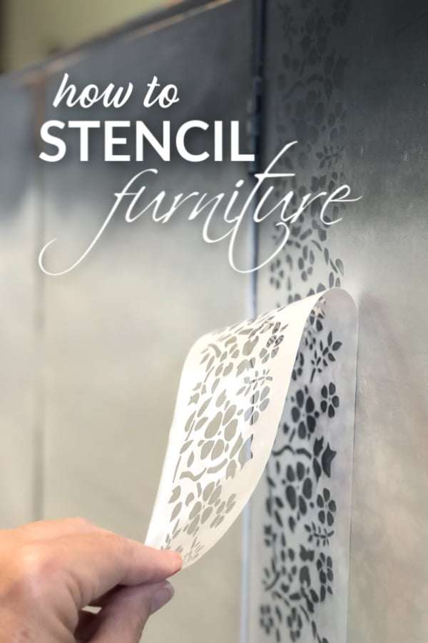 How To Stencil Furniture In 2 Easy Steps