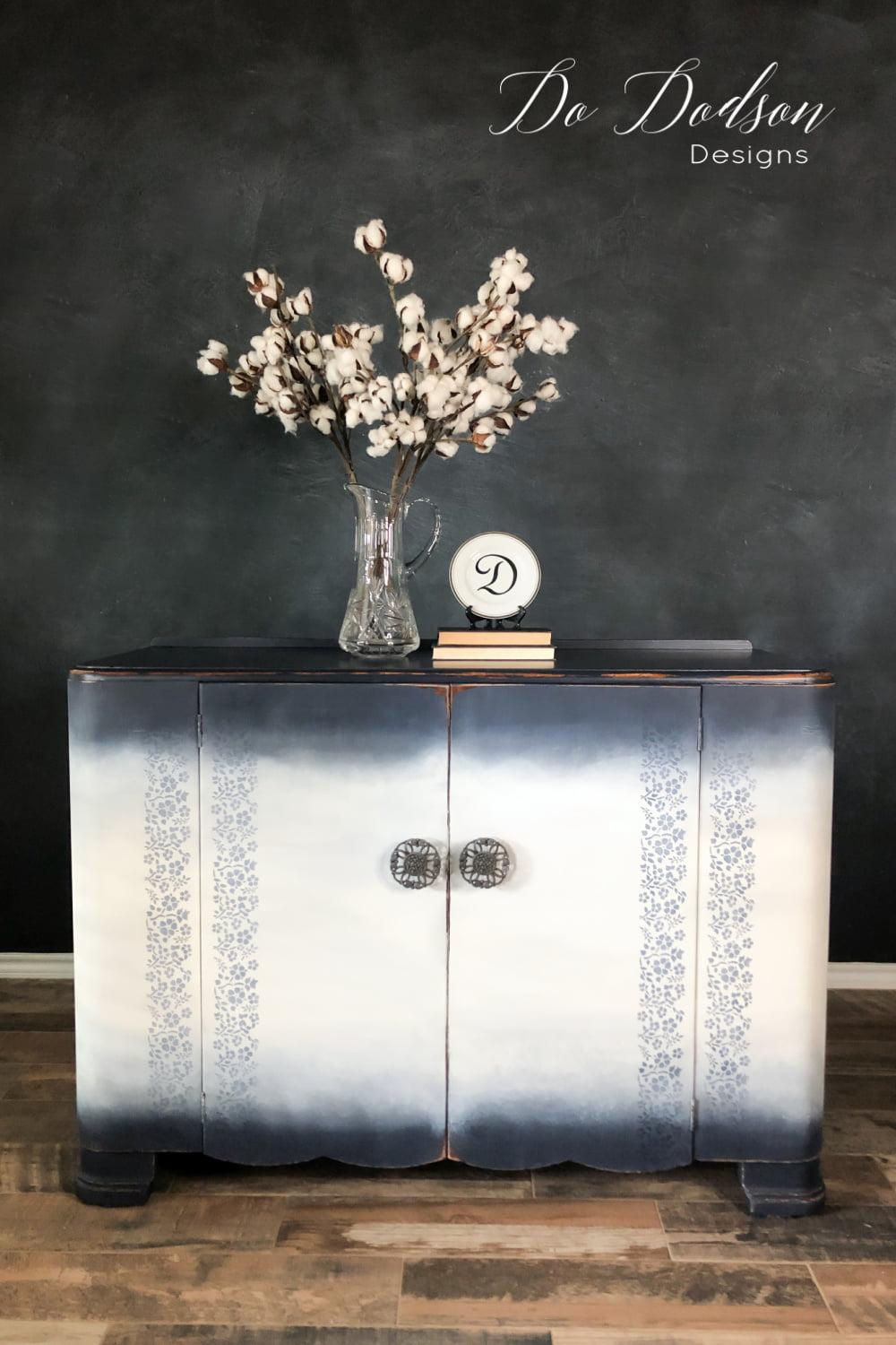 The easiest way to add a stencil to your painted furniture.