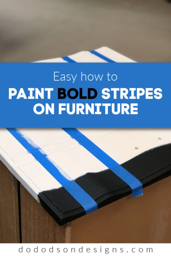 It's so easy to paint stripes on your furniture. And no bleeding!