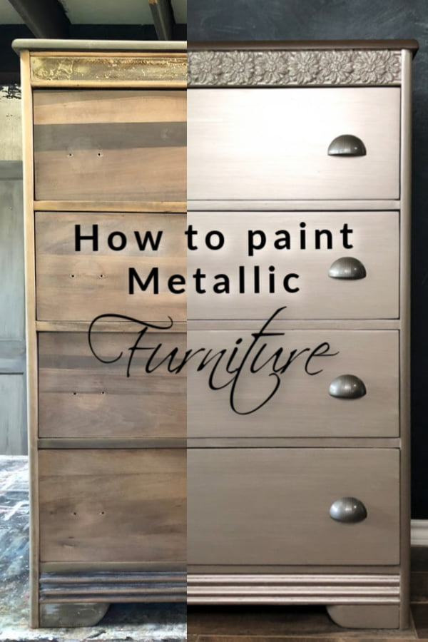 How To Paint Metallic Furniture The Easy Way