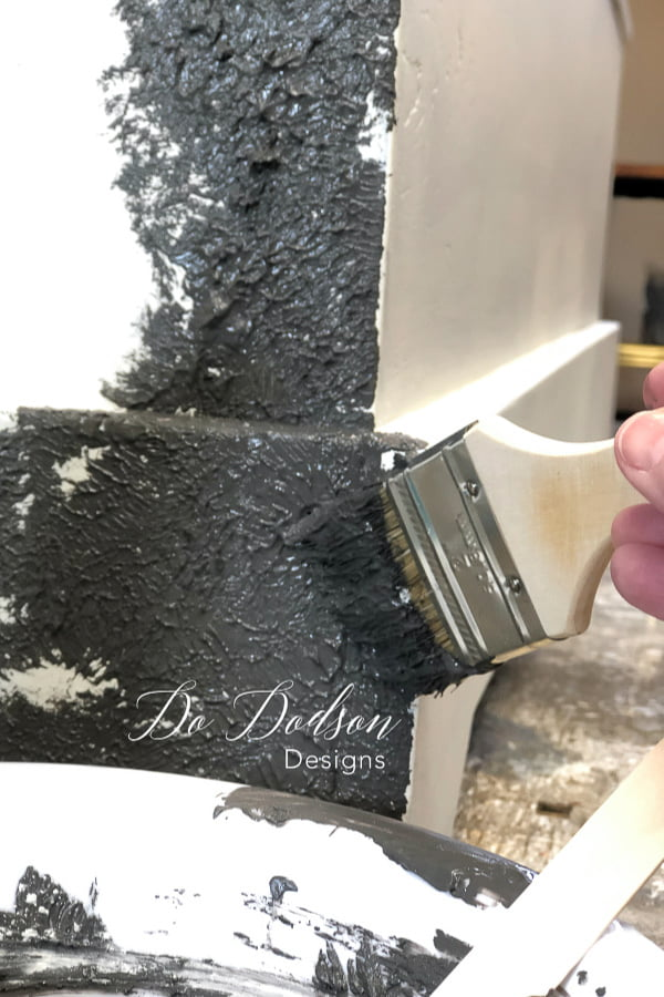 I love using the natural bristle chip paint brushes when adding a texture additive to my paint. I simply throw it away when I'm done.