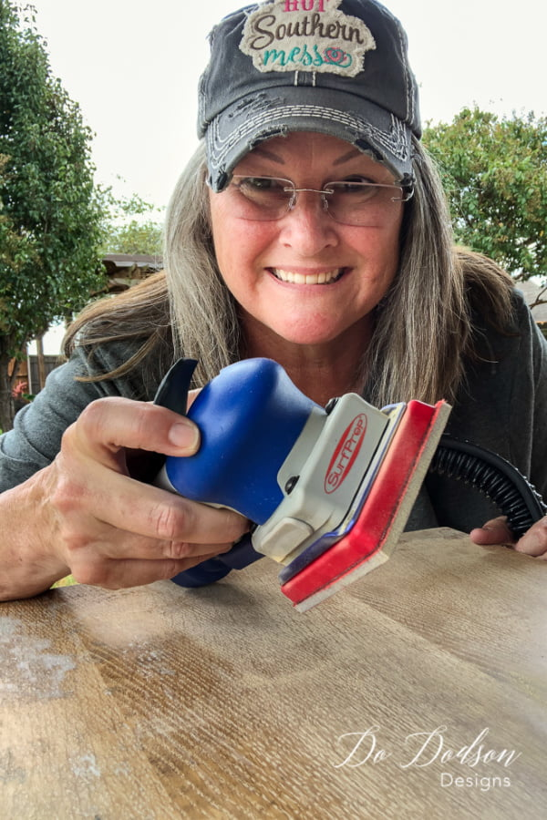 One tool, one project! Where have you been my sexy sanding machine?! Best Sander for wood furniture ever!
