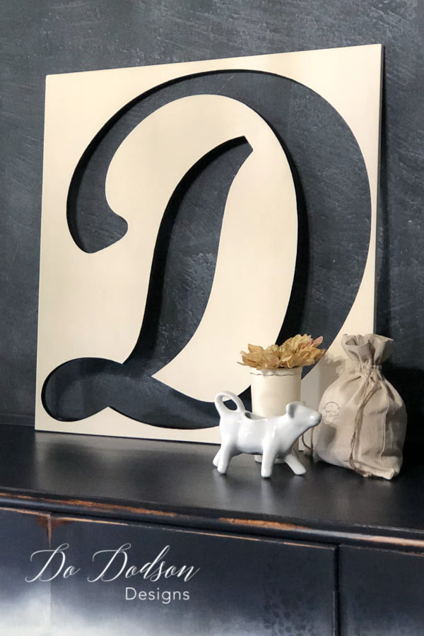Why not paint the the cutout from wood letters and use in your home decor.