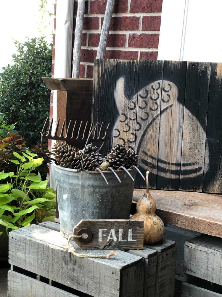My DIY Fall Decor display on my front porch could not have turned out any better. It was so easy!