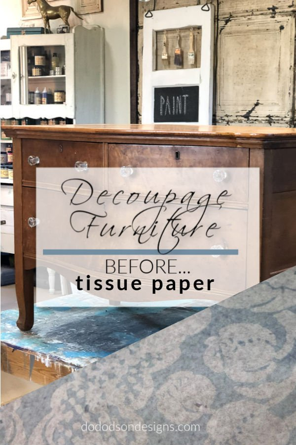 Adding decoupage to furniture is a great way to add beauty to your wood furniture.