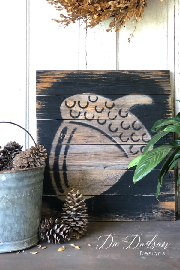 Every Fall I search for inexpensive ways to create rustic DIY Fall decor on a budget. I love how unique this is and It was only $1!