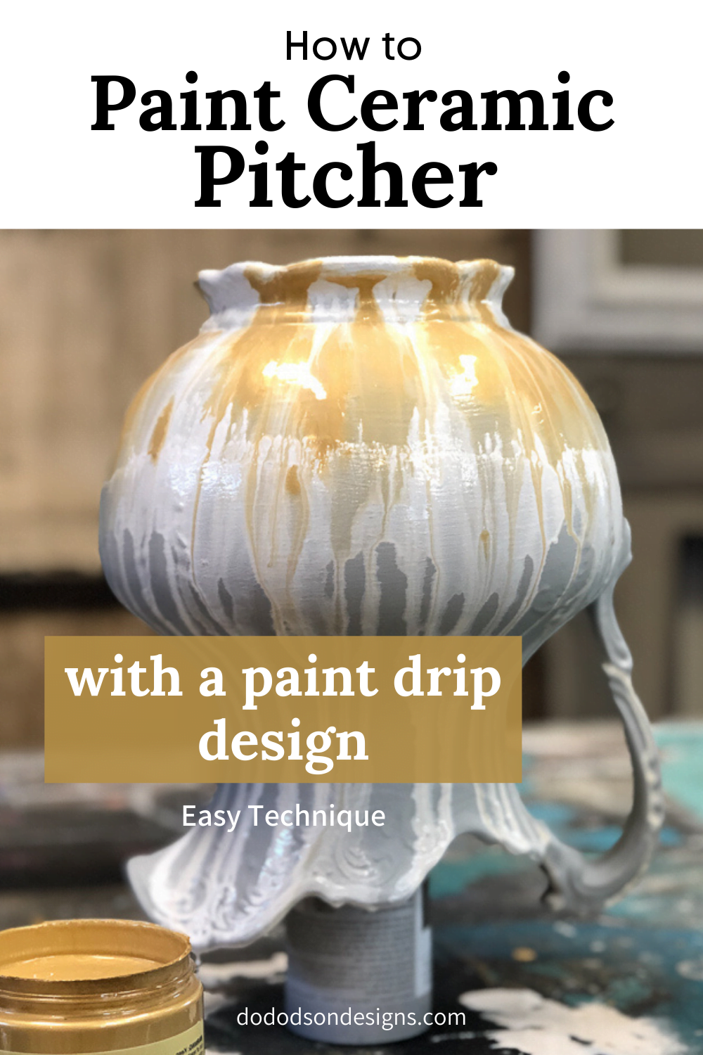How To Paint A Ceramic Pitcher Quick And Easy