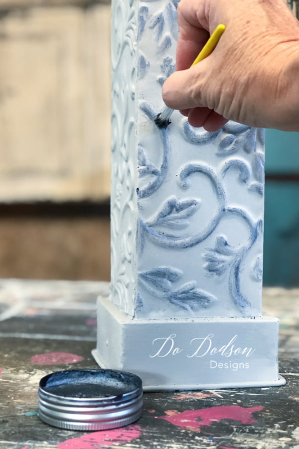 Accenting the details on this candle stick with wax will give it a fresh updated look that matches my style.