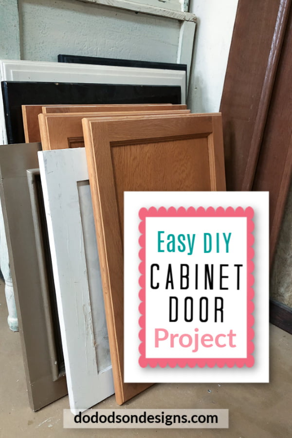 Repurposed cabinet doors make great DIY projects for a great cause.