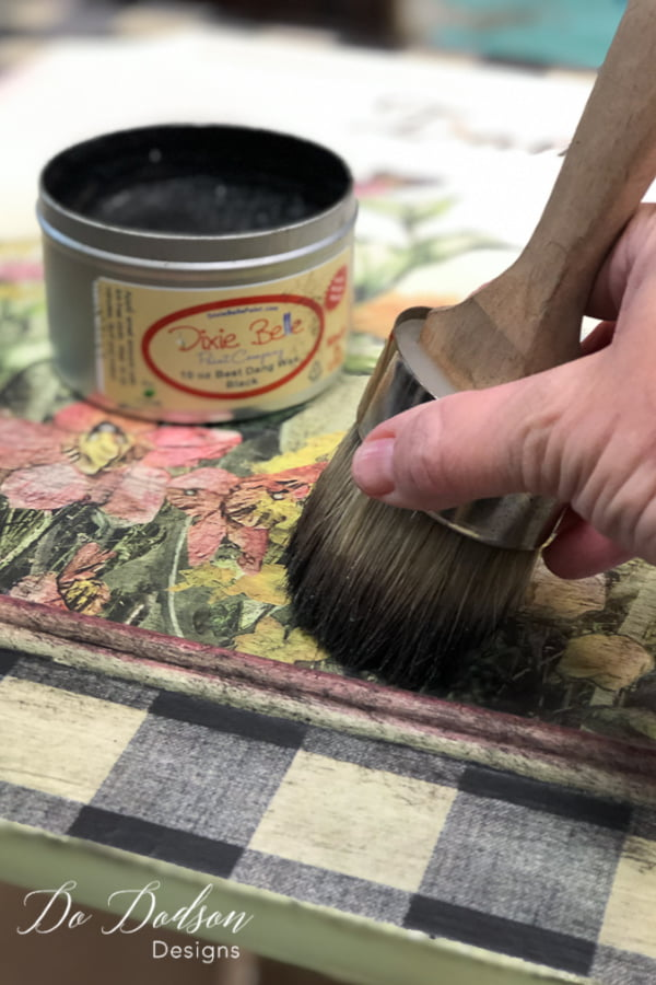 Did you know you can add dark wax over a decor transfers? It gives it a beautiful aged look.