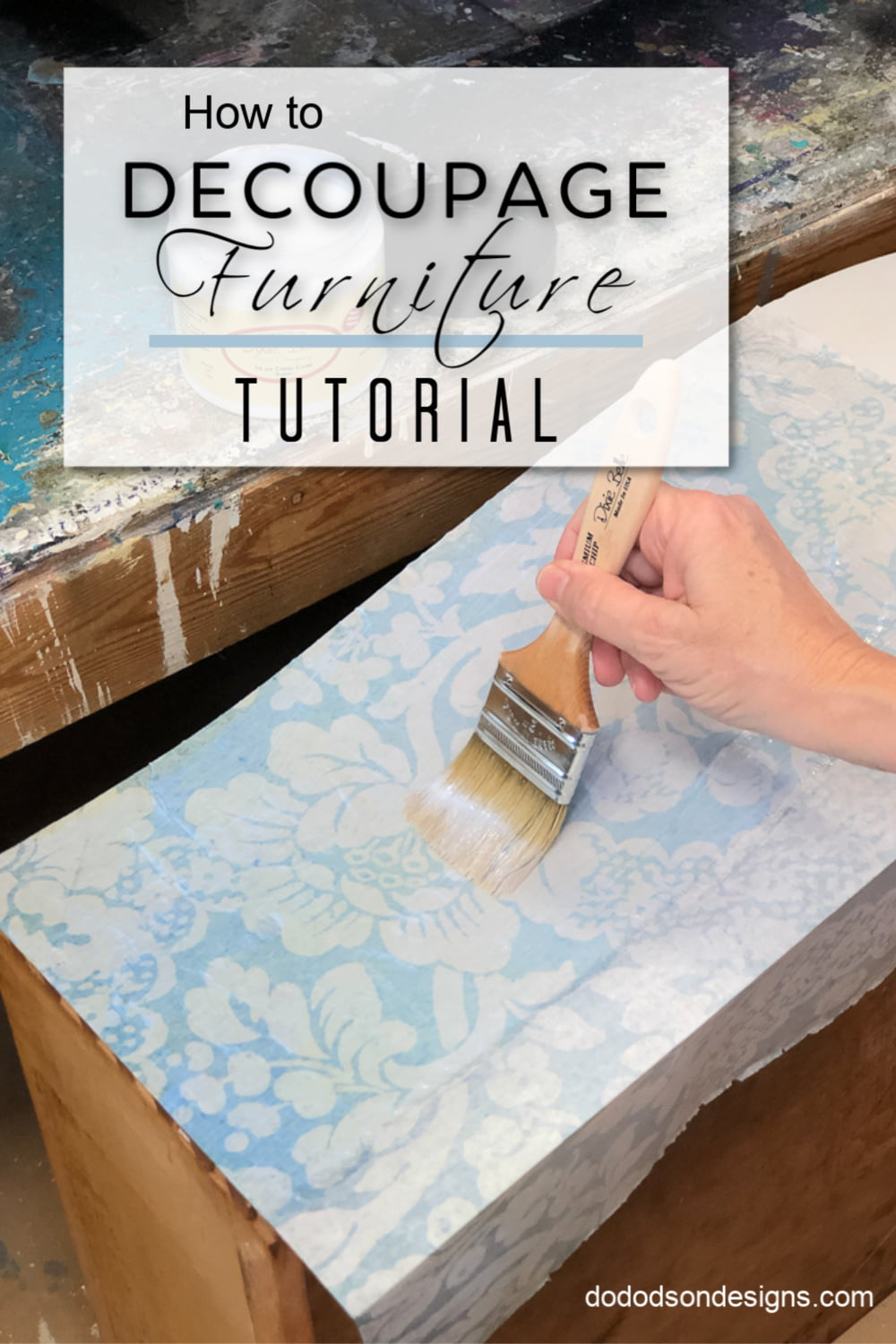 Decoupage on furniture??? Where have you been all my life? Am I the last one to know about decoupage paper? Come see how it all turns out. I\'m in LOVE!