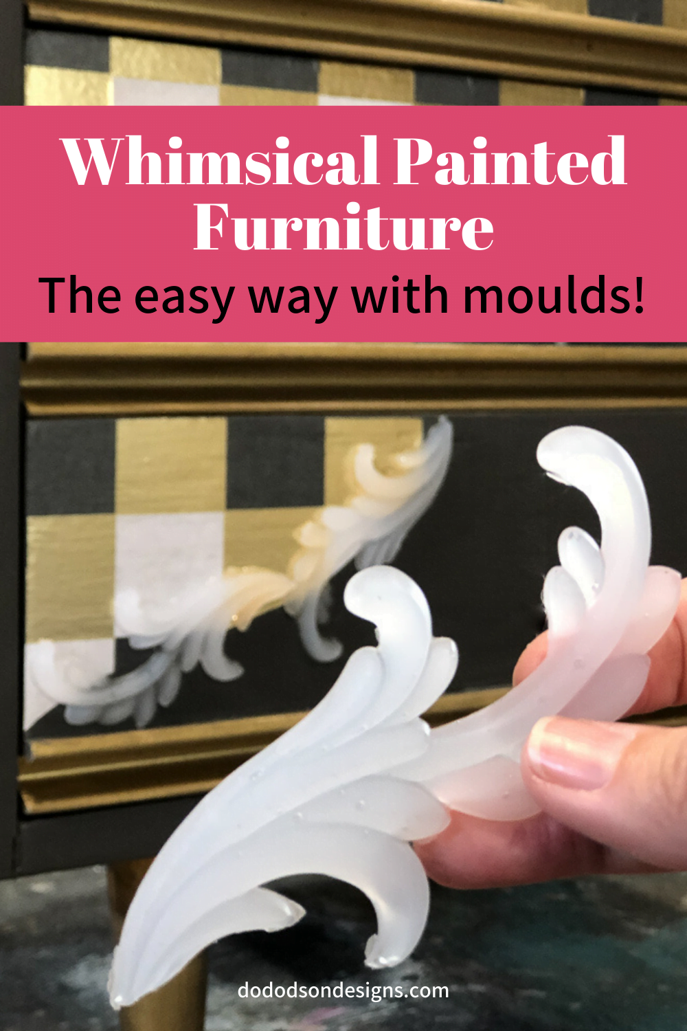 WHIMSICAL FURNITURE Makeover - Anyone can do!