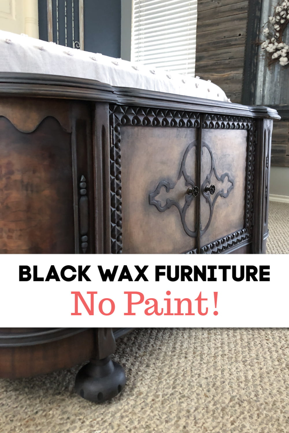 Quick And Easy Black Wax Furniture Makeover