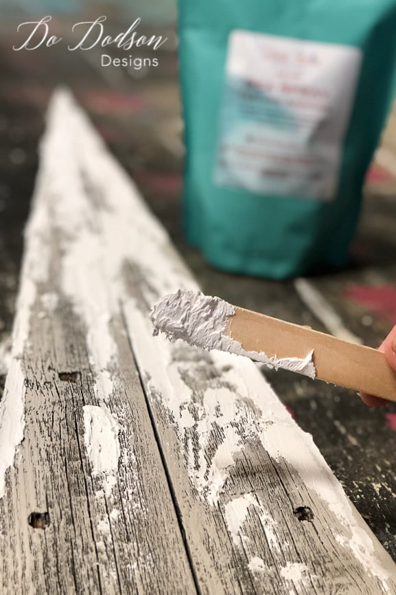 This texture is amazing! I it almost looks like snow on the tiny wooden churches. This will be the best rustic Christmas decor ever!