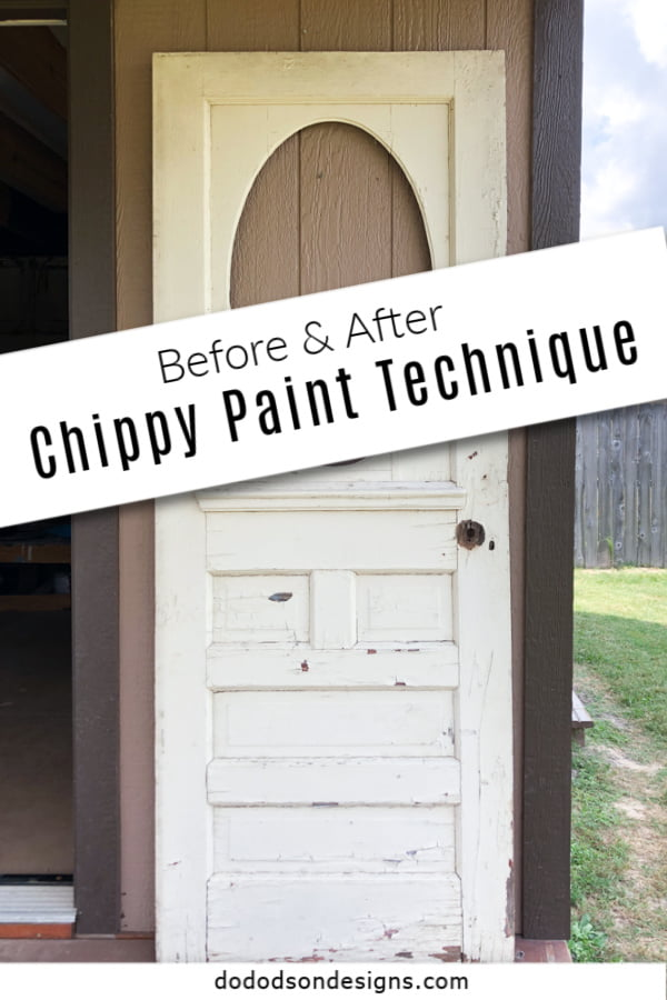 Try this simple no fail chippy wood technique on your next makeover.