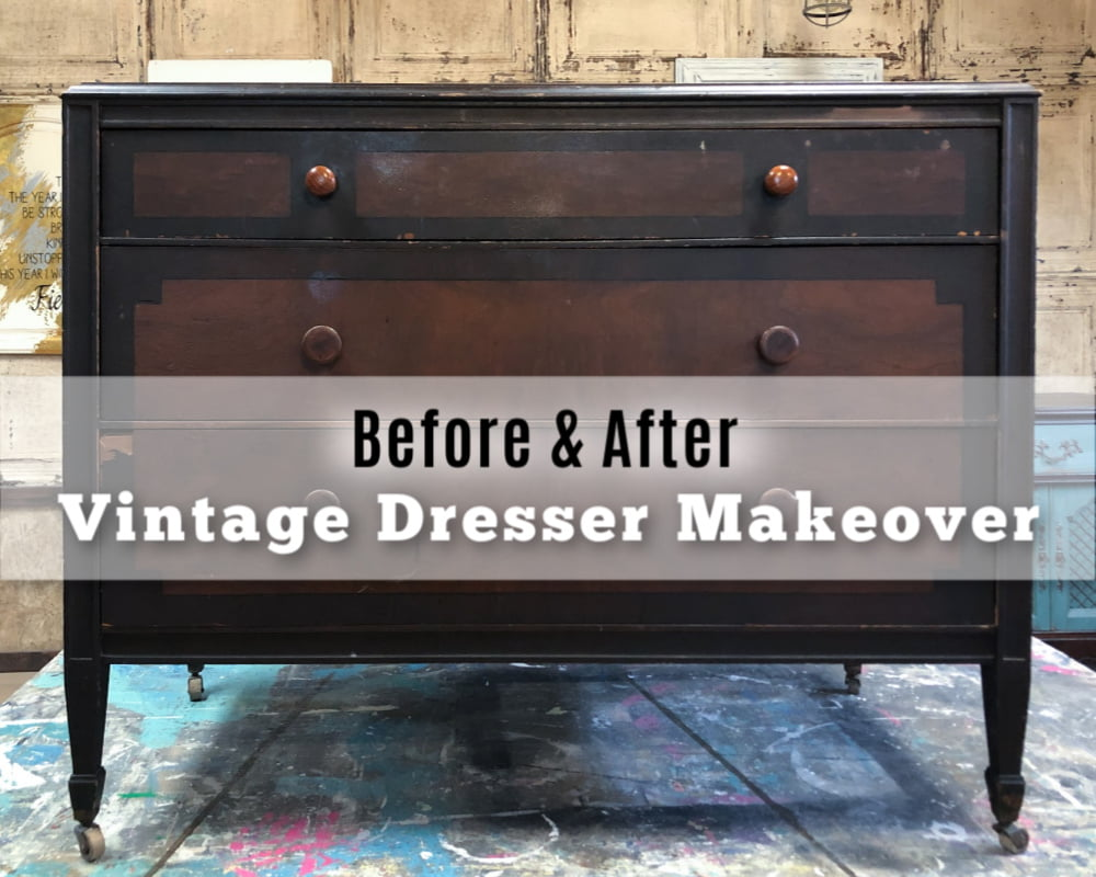 The best thing, in my opinion, do that vintage dresser makeover with paint and have fun.