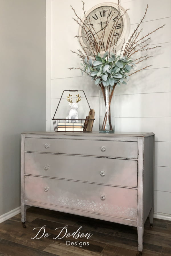 Painting these vintage dressers can a great way to repurpose and save our landfills.