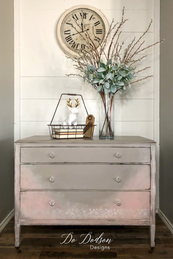Check out this vintage dresser makeover with my favorite paint colors.