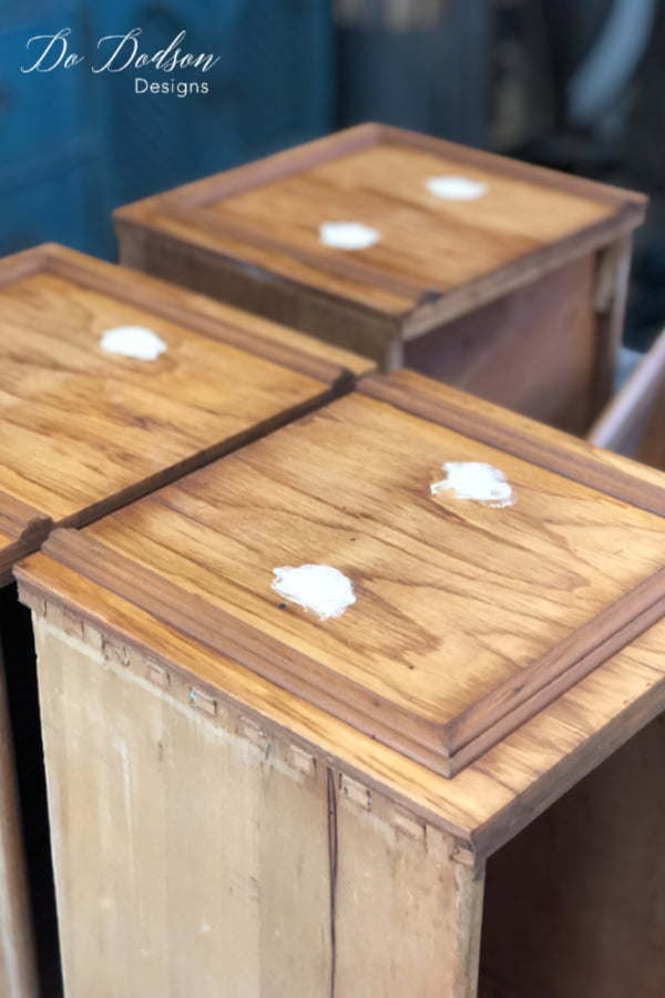 I allow at least 24 hours when I fill holes in wood furniture because dry times can vary with humidity temperature. You may need to adjust your dry times to the area you live in.