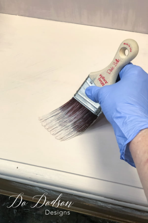 Use a good chalk mineral paint and master the no brush stroke method. This can be done using the right products and using the right technique to create a great finish on painted furniture.