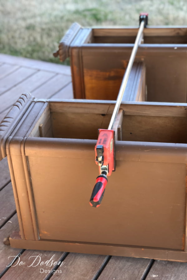 Cool tools! They're necessary when you're flipping furniture so I thought I'd share this one. It has been so useful for repairing large structural problems.