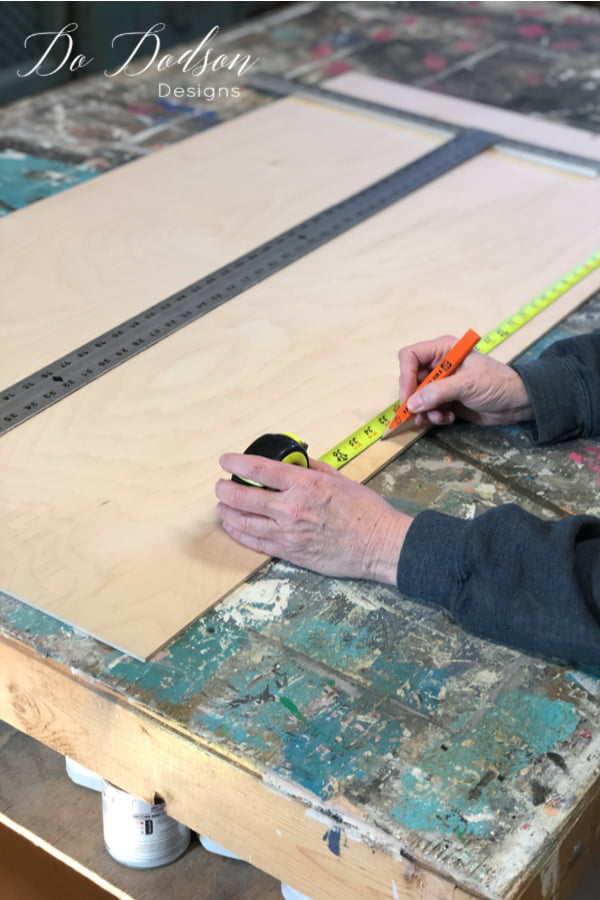 """So as the saying goes, """"measure twice and cut once"""". So double-check your measurements before you cut the plywood for the shelves in your dresser."""