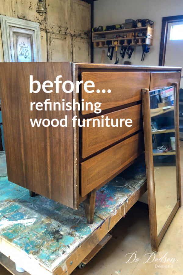 How to refinish wood furniture with gel stain. DIY Tutorial