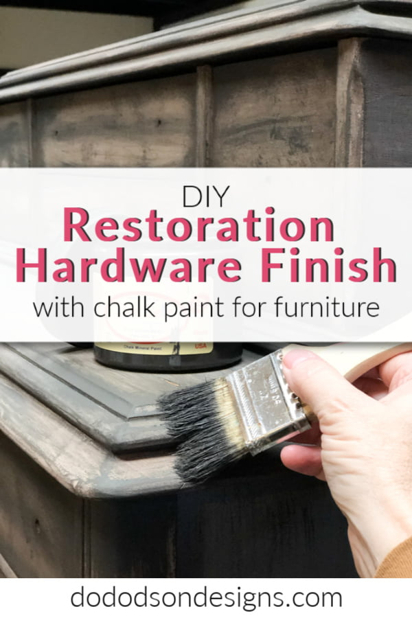 Restoration Hardware Finish With Chalk Paint – DIY