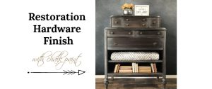 Restoration Hardware Finsish With Chalk Paint For Wood Furniture
