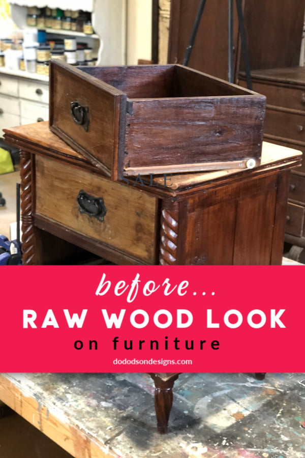 When I purchased this side table on Market Place, I had no idea that it was solid walnut. Can I just say I have a thing for beautiful wood? Well, I do and if you have been following me and my furniture makeovers for a while, you've seen me incorporate the raw wood look with wax but never paint.