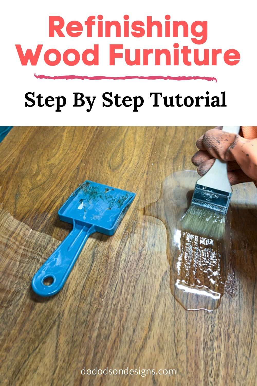 Refinishing wood furniture doesn\'t have to be hard. The best part of it all is the beautiful DIY Gel stain wood finish that you get to brag about.