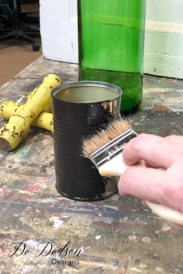 From trash to treasure! Turn almost anything into DIY home decor with a chippy paint finish.