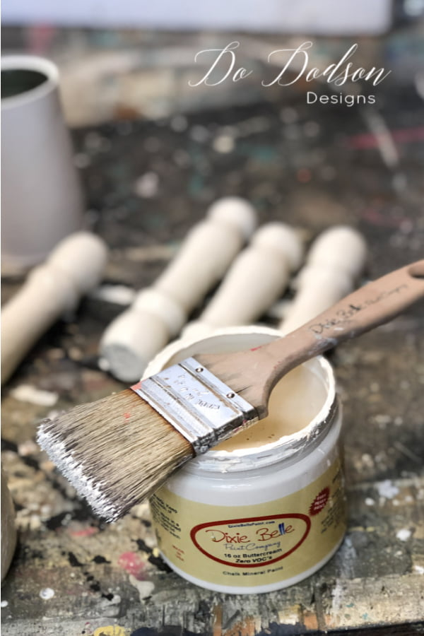 Dixie Belle chalk mineral paint is my go-to for all my projects. It adheres to almost any surface you can imagine.