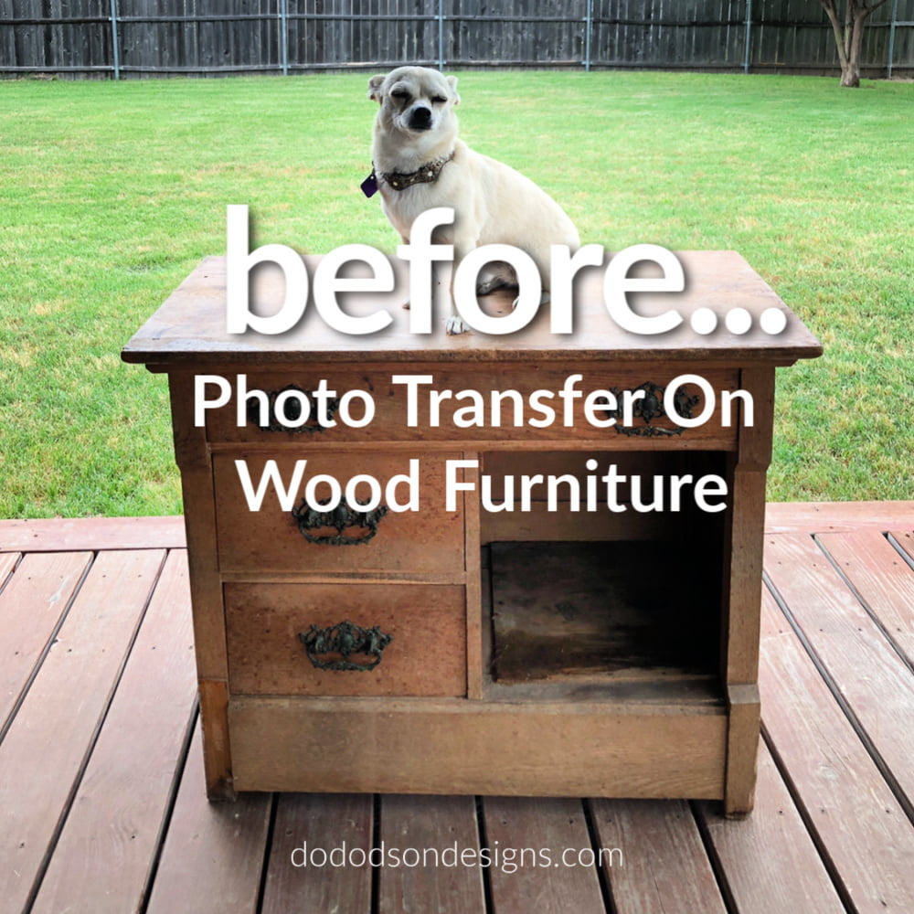 Learn how I created a DIY photo transfer for literally a fraction of the cost of furniture transfers.