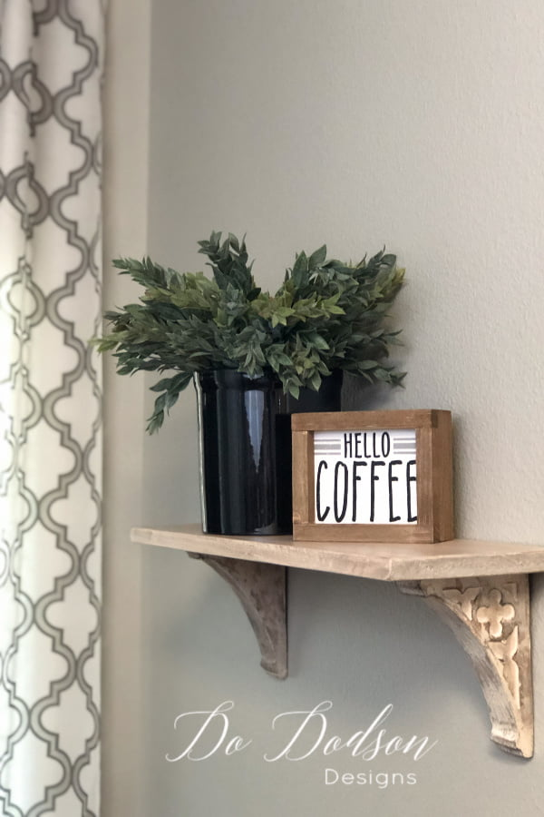 DIY home decor doesn't have to be complicated. This mini corbel shelf was quick and easy.
