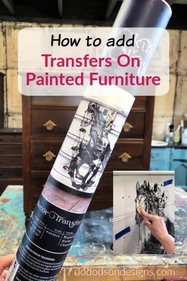 Let me show you how to add transfers on painted furniture in less than 20 minutes. I'm telling it all on my blog.