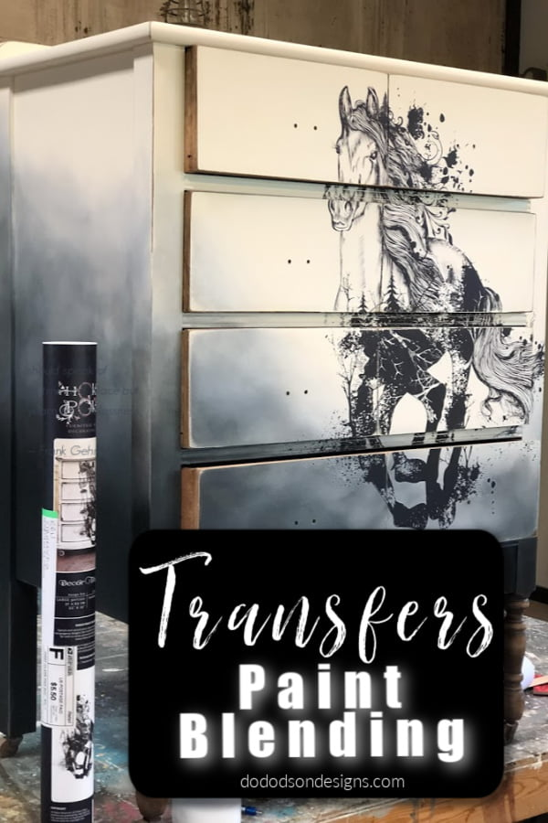How To Add Beautiful Transfers On Painted Furniture