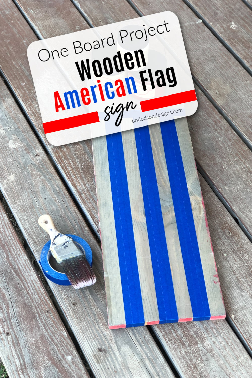 Wooden American Flag Sign - 1 Board Project