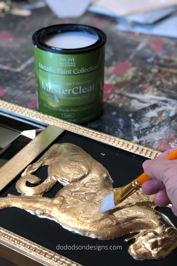 Imitation metal leaf will tarnish if not properly sealed.I like to use a topcoat called Master Clear.