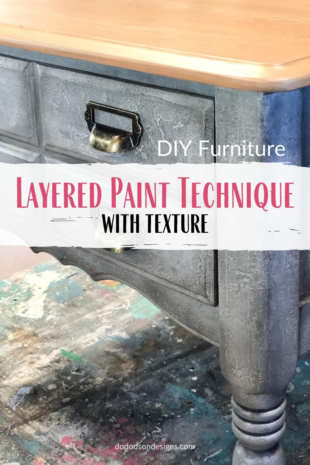 Layered Paint Technique With Texture - Restoration Hardware Finish