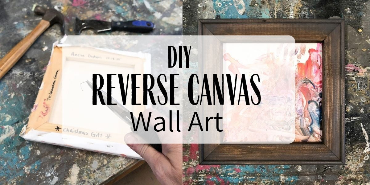 This reverse canvas hack is a great way to preserve your kiddos' artwork. Who would have thought there was a perfectly good frame under a stretched canvas.