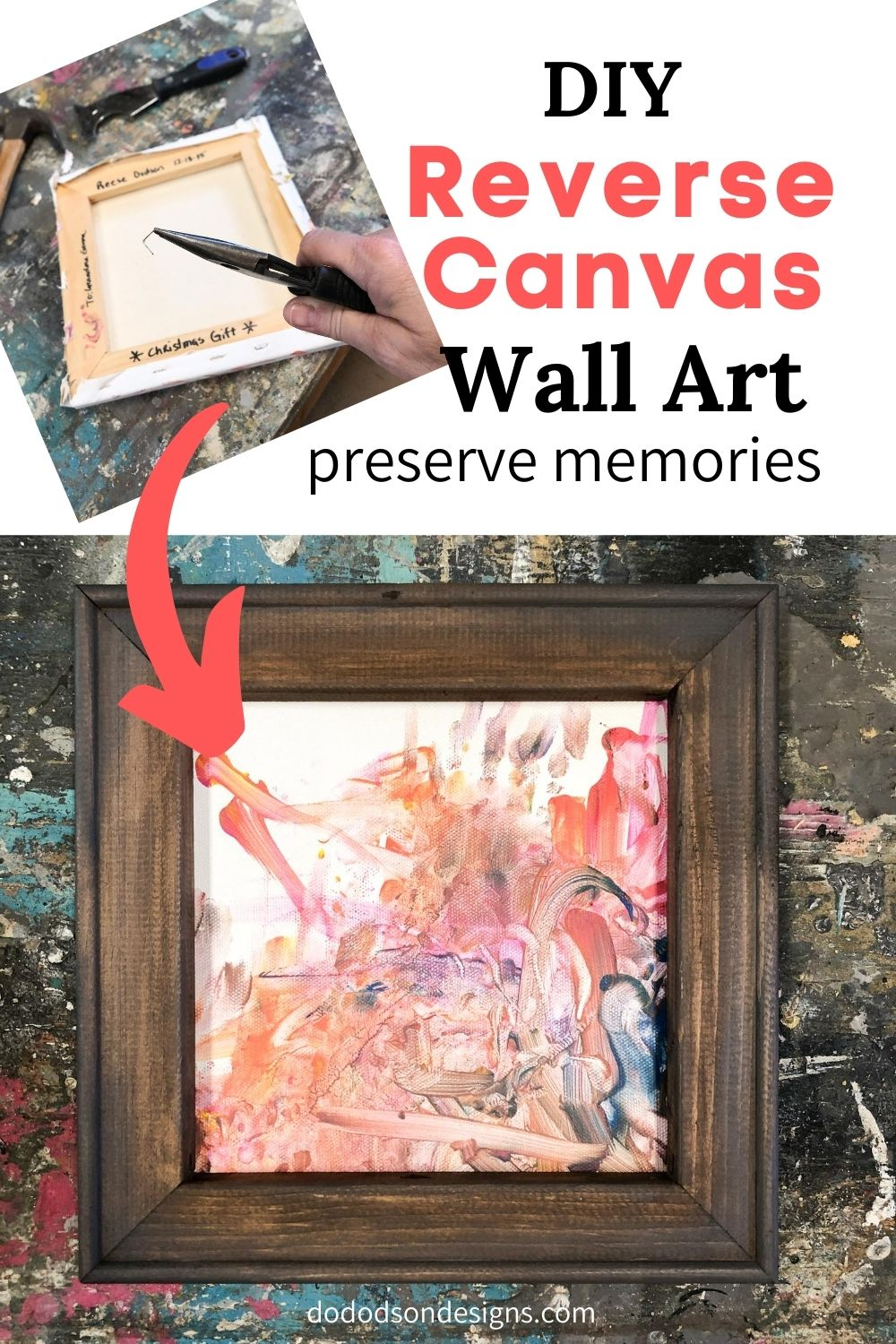 DIY Reverse Canvas Frame Hack | How To