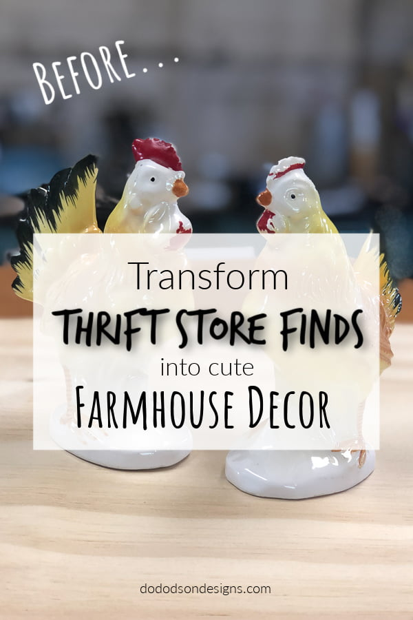 I transformed this thrift store find into CUTE farmhouse decor in less than an hour. Paint changes everything and can update home decor on a budget.