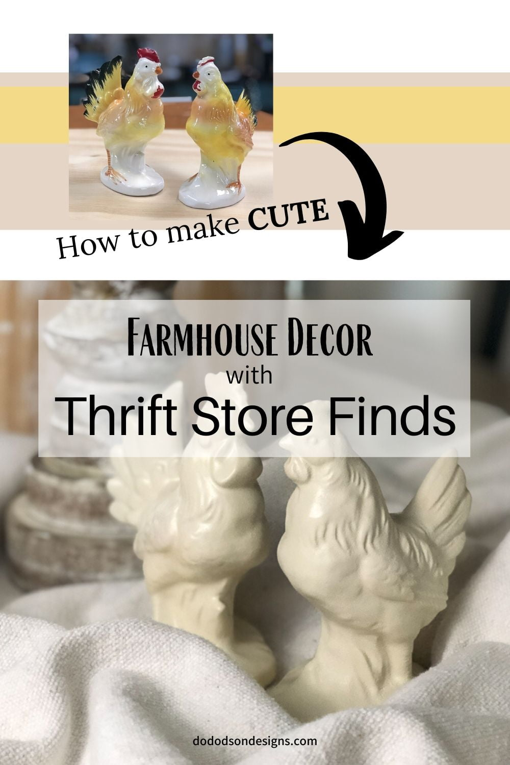 Transform Thrift Store Finds Into Farmhouse Decor